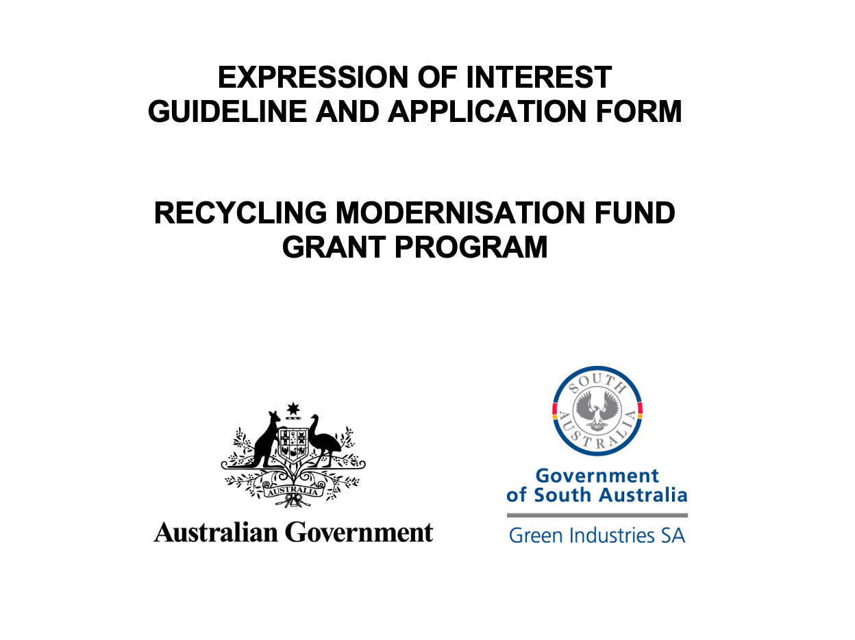 Recycling Modernisation Fund Grant Application Form
