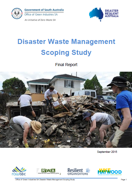 Disaster Waste Management Scoping Study - final report (2016)