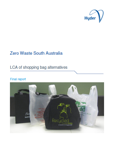 Life cycle analysis of plastic bag alternatives (2009)
