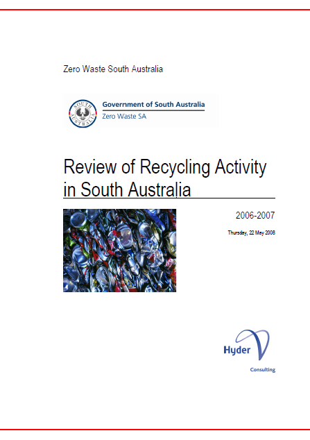 Recycling Activity in South Australia 2006-07