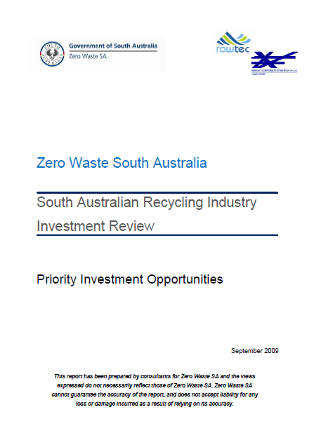 Recycling Industry Investment Review part 2 (2009)