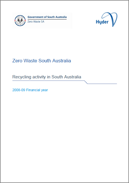 Recycling activity in South Australia 2008-09