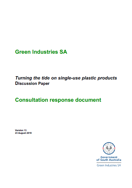 Single-use Plastics Consultation Summary Report (2019)