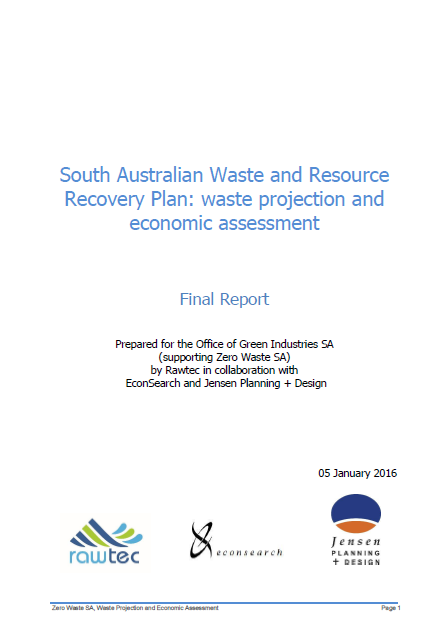 The SAWRRIP waste projection and economic assessment