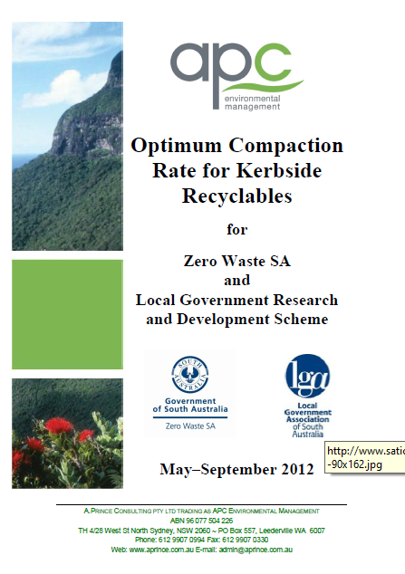 Optimum compaction rate for kerbside recyclables (2012)