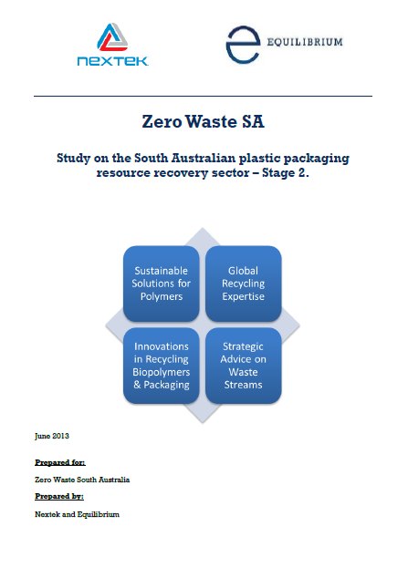 Study on SA plastic packaging resource recovery sector Stage 2 (2014)
