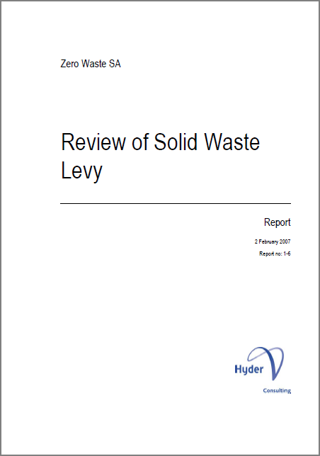 Review of solid waste levy (2007)